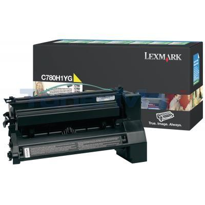 LEXMARK C780 X782 TONER CARTRIDGE YELLOW 10K RP